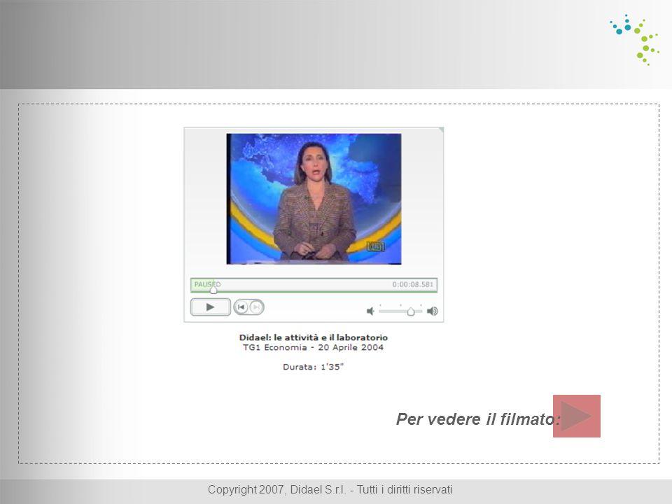 Copyright 2007, Didael S.r.l. - Tutti i diritti riservati Per vedere il filmato: