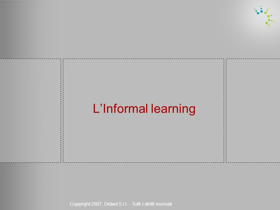 Copyright 2007, Didael S.r.l. - Tutti i diritti riservati L'Informal learning