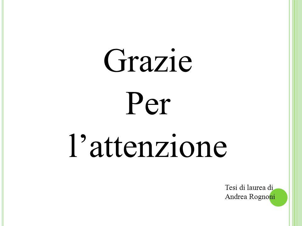 Grazie Per l'attenzione Tesi di laurea di Andrea Rognoni