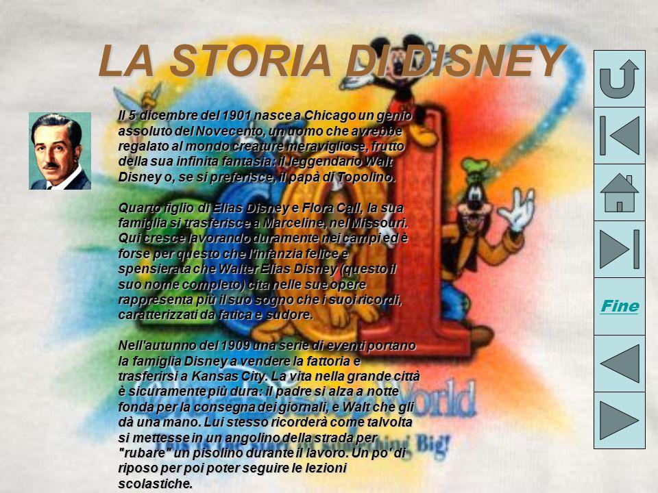 LA STORIADIDISNEY LA STORIA DI DISNEY Il 5 dicembre del 1901 nasce a Chicago un genio assoluto del Novecento, un uomo che avrebbe regalato al mondo creature meravigliose, frutto della sua infinita fantasia: il leggendario Walt Disney o, se si preferisce, il papà di Topolino.