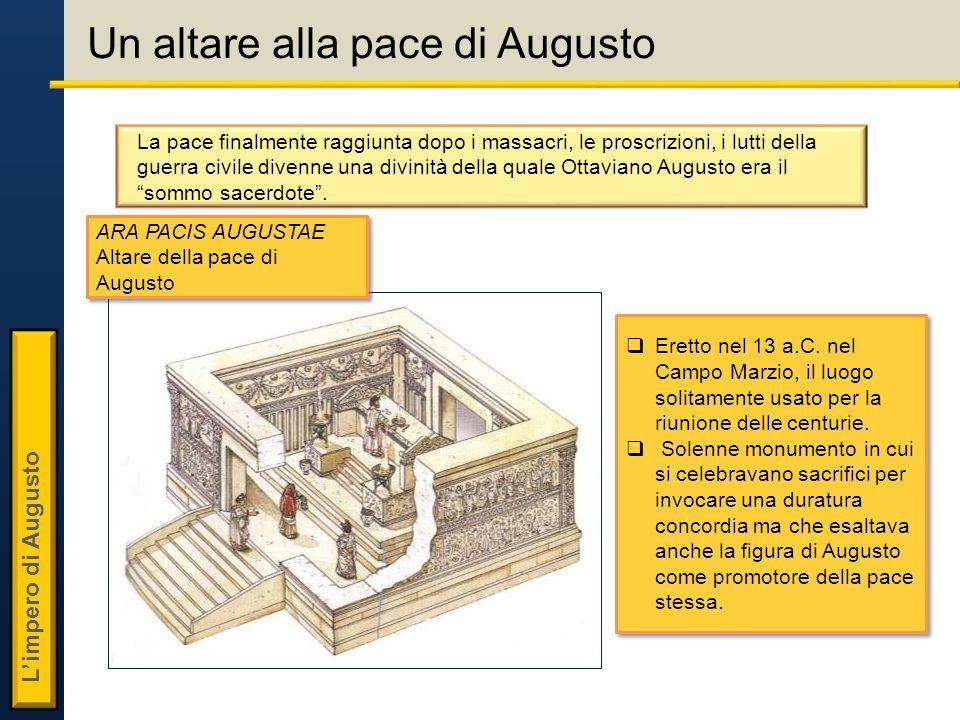 L'impero di Augusto Un altare alla pace di Augusto  Eretto nel 13 a.C.