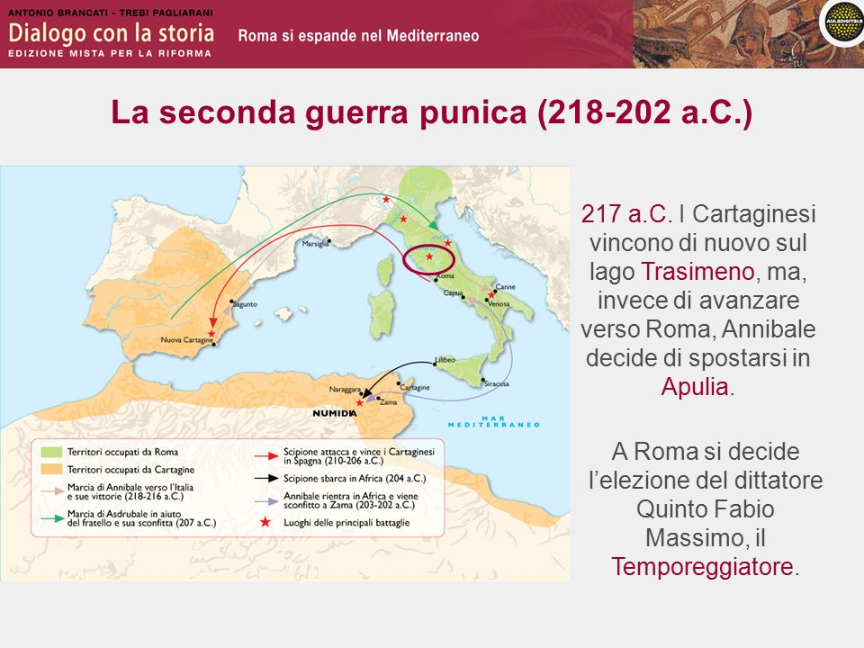 La seconda guerra punica (218-202 a.C.) 217 a.C.