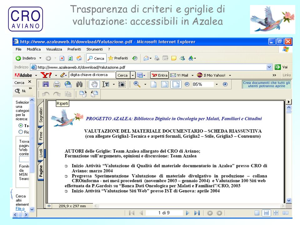 22 Trasparenza di criteri e griglie di valutazione: accessibili in Azalea