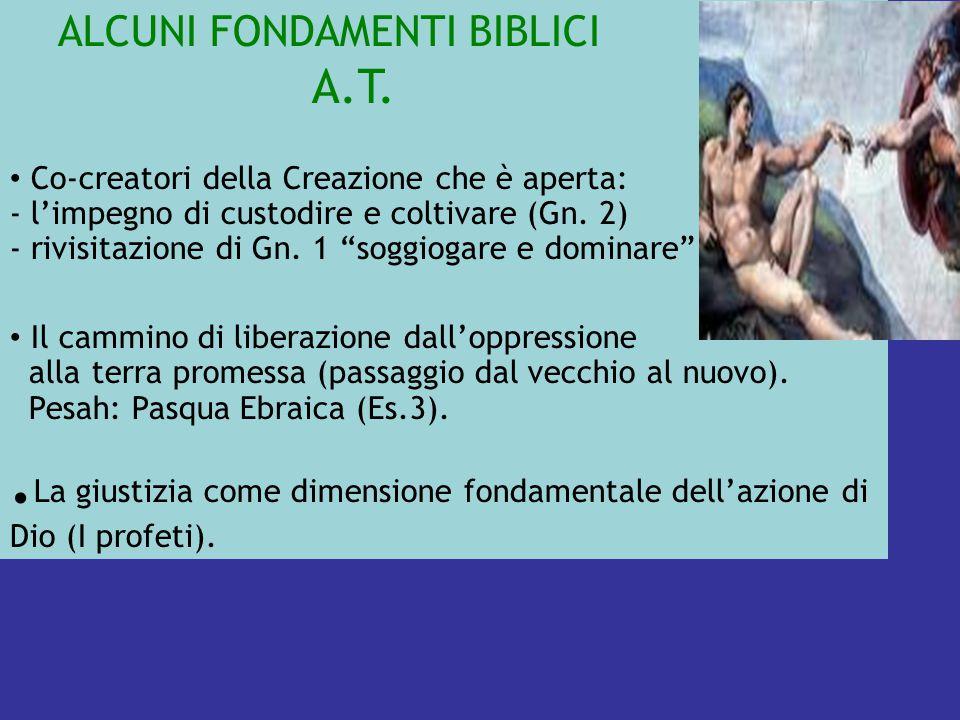 ALCUNI FONDAMENTI BIBLICI A.T.