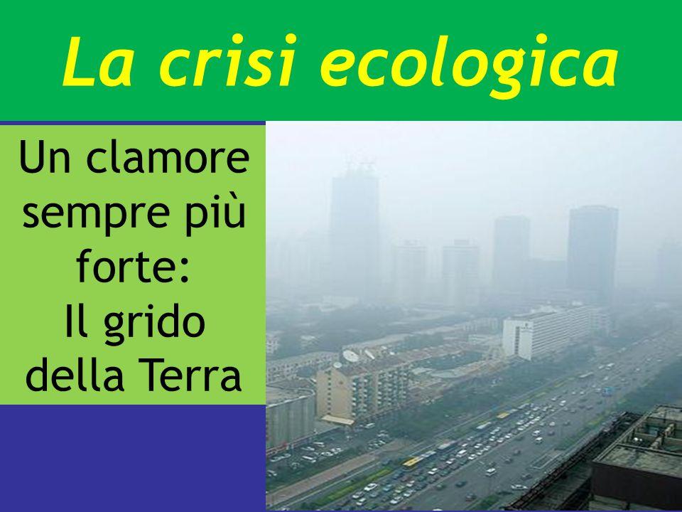 La crisi ecologica Un clamore sempre più forte: Il grido della Terra