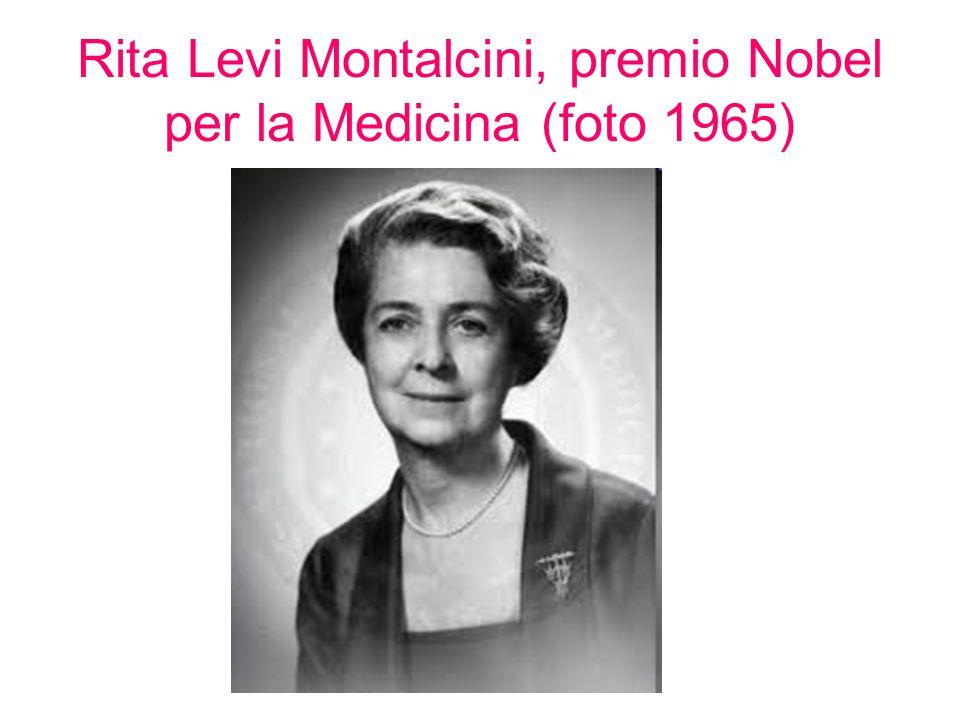 Rita Levi Montalcini, premio Nobel per la Medicina (foto 1965)
