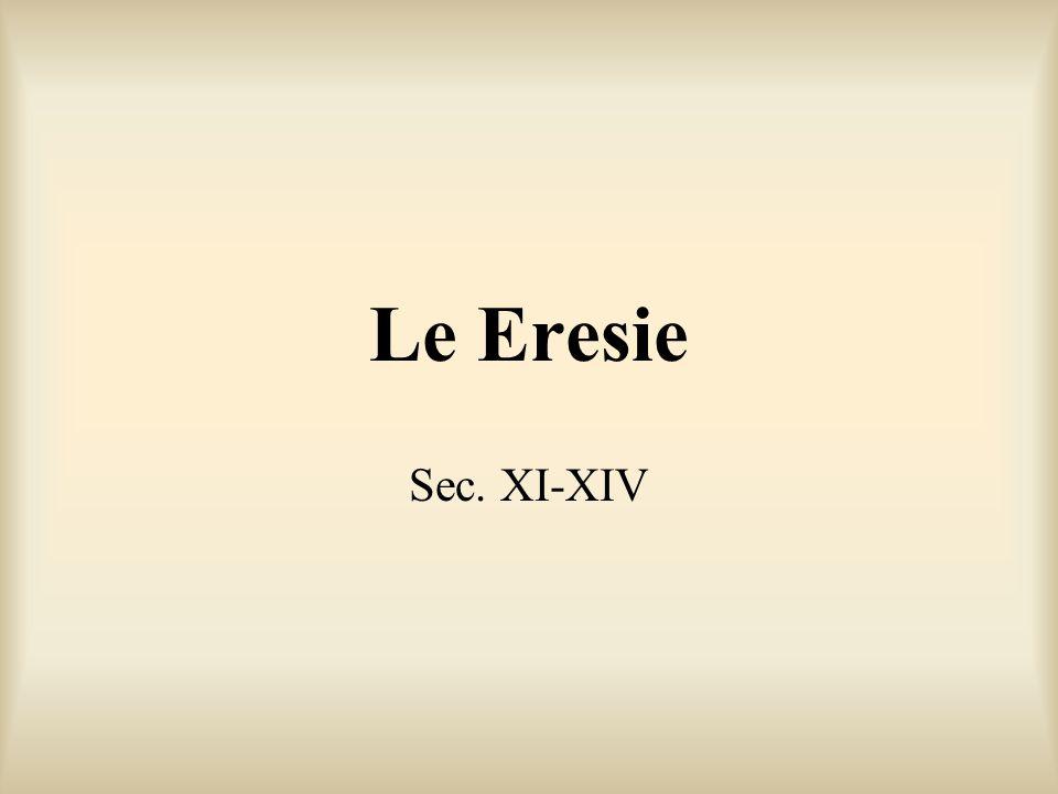 Le Eresie Sec. XI-XIV