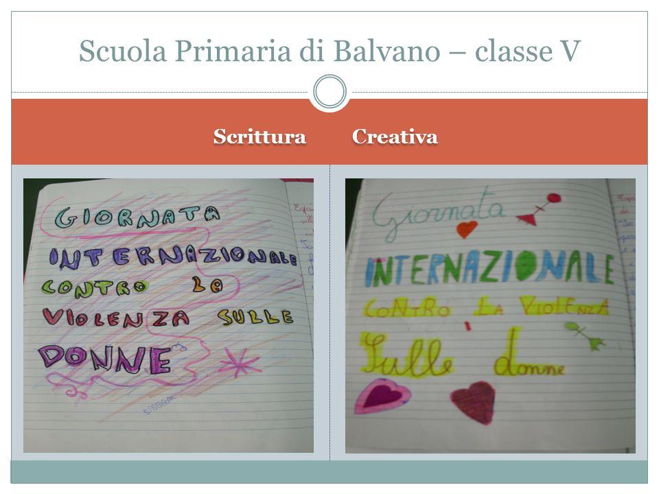 Scrittura Creativa Scuola Primaria di Balvano – classe V