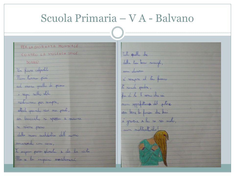 Classi I-II-III Gli alunni, con l'aiuto delle docenti di lettere, hanno effettuato ricerche e approfondimenti sul femminicidio traendo spunto da letture critiche tratte da Internet … i temi particolarmente affrontati sono stati: - Il significato del termine femminicidio - Il fenomeno in Italia - La statistica in Italia - Le iniziative legate al 25 Novembre in Italia Scuola Secondaria di Balvano