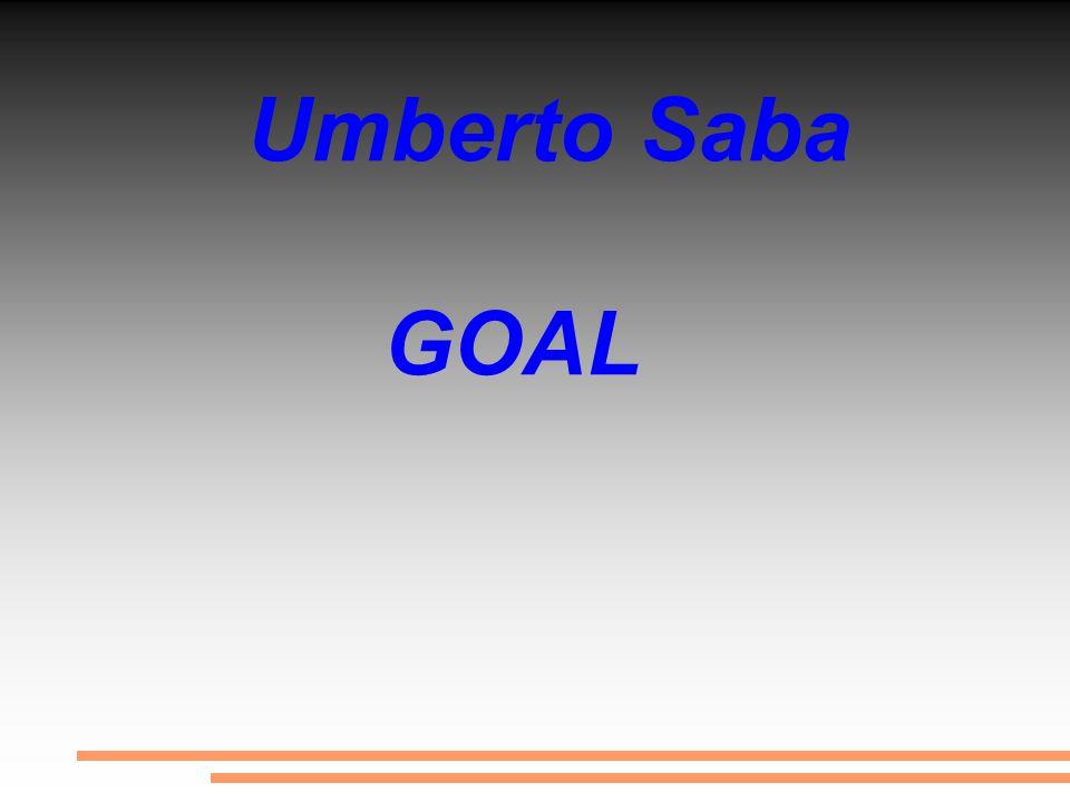 La poesia Goal da Umberto Saba fa parte del terzo volume del Canzoniere composto tra il 1933 e il 1954. Goal è una delle cinque poesie sui temi dell' aria festosa del gioco del calcio.