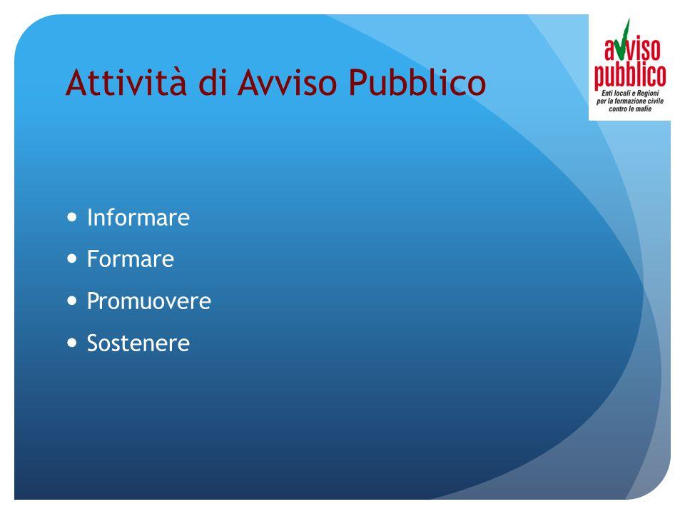 Attività di Avviso Pubblico Informare Formare Promuovere Sostenere