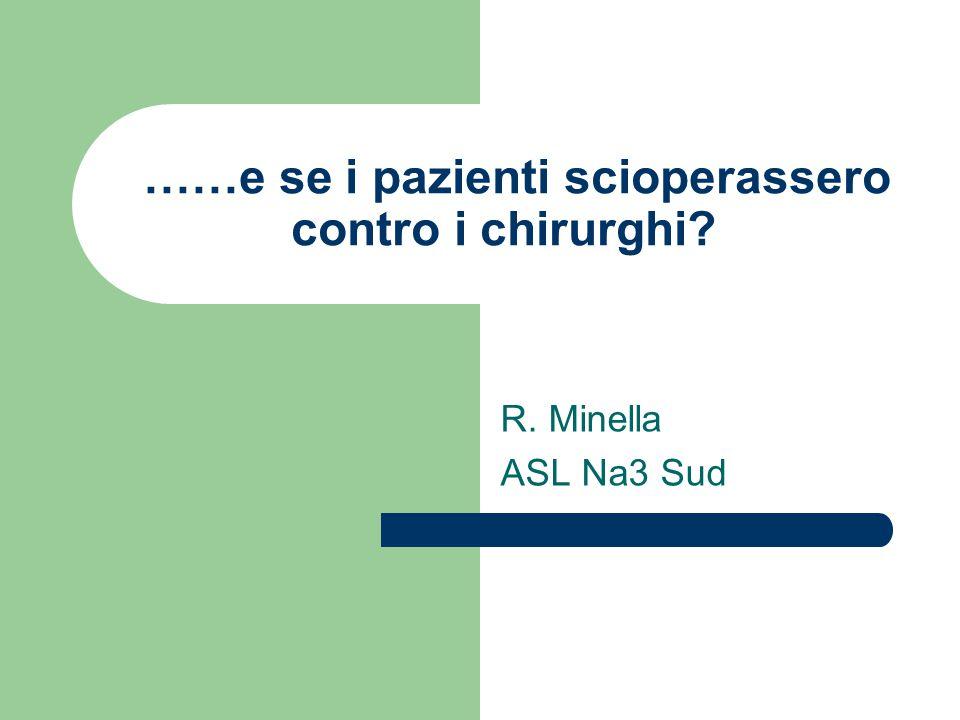 ……e se i pazienti scioperassero contro i chirurghi? R. Minella ASL Na3 Sud