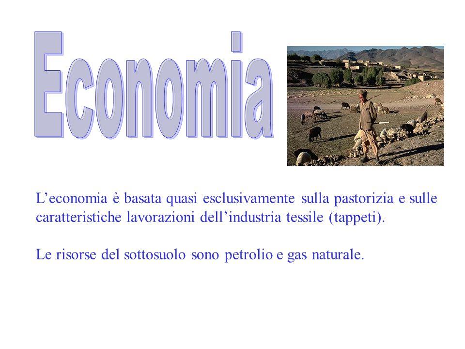 L'economia è basata quasi esclusivamente sulla pastorizia e sulle caratteristiche lavorazioni dell'industria tessile (tappeti). Le risorse del sottosu