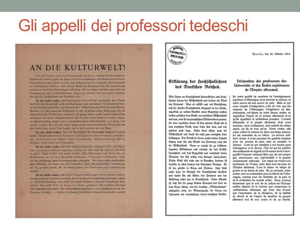 Gli appelli dei professori tedeschi