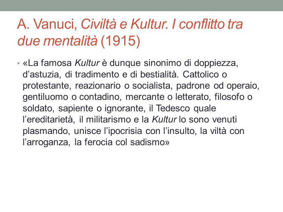 A. Vanuci, Civiltà e Kultur.