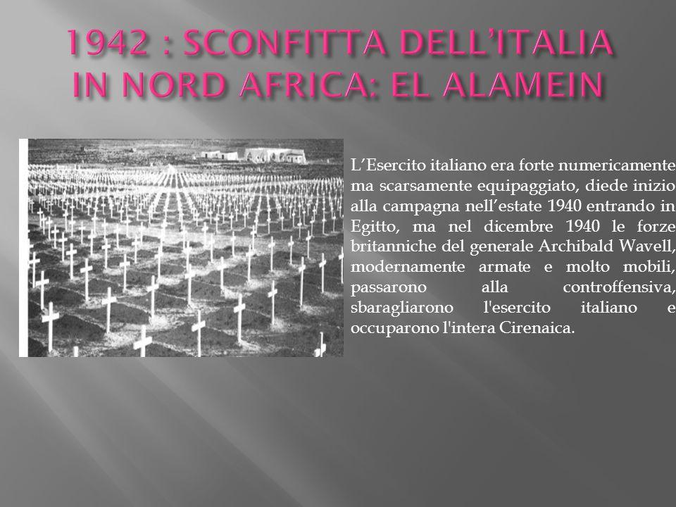 L'Esercito italiano era forte numericamente ma scarsamente equipaggiato, diede inizio alla campagna nell'estate 1940 entrando in Egitto, ma nel dicemb