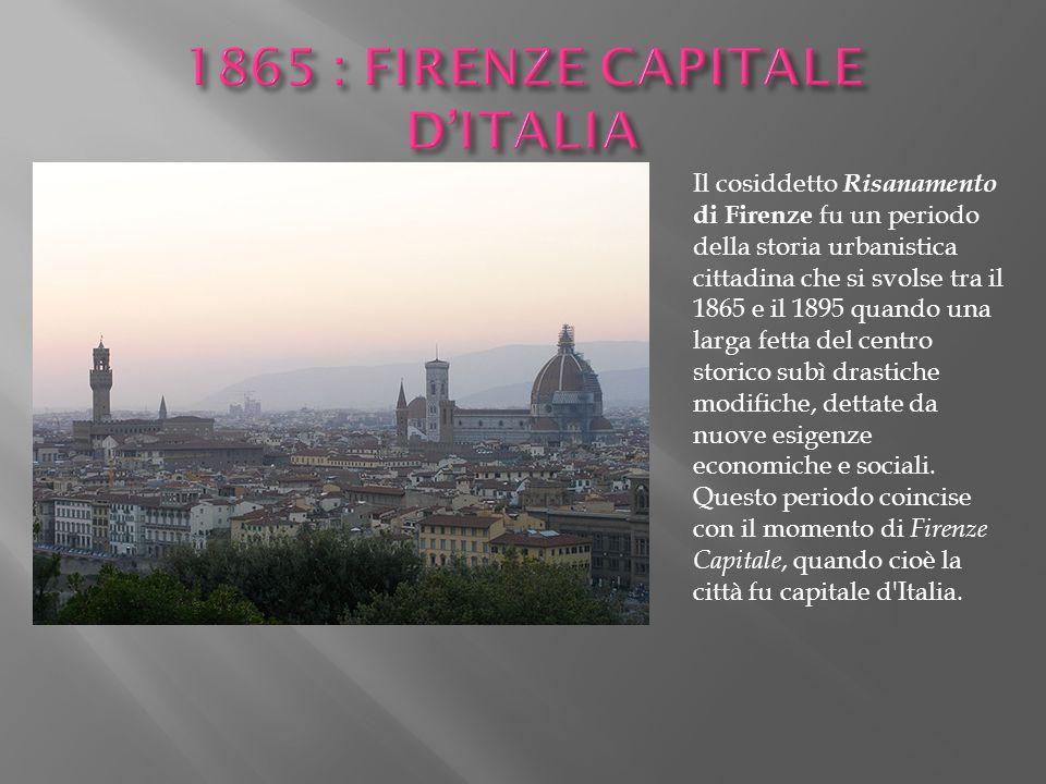 Il cosiddetto Risanamento di Firenze fu un periodo della storia urbanistica cittadina che si svolse tra il 1865 e il 1895 quando una larga fetta del c