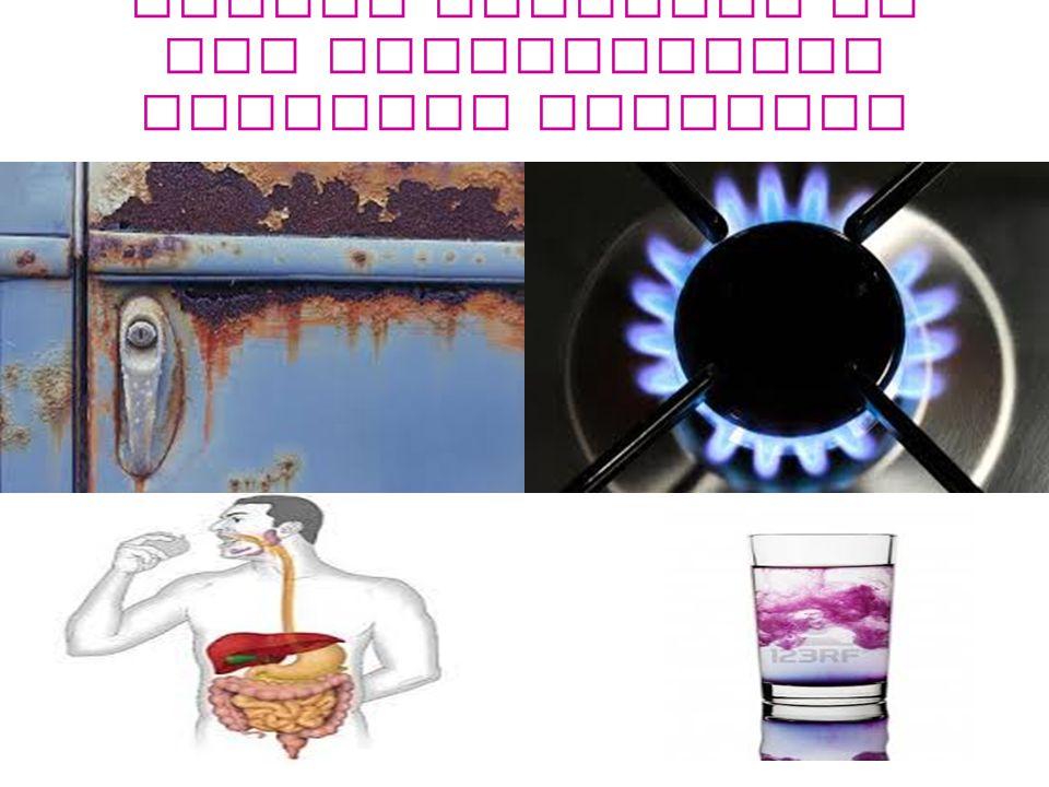 Alcuni processi in cui intervengono reazioni chimiche sono :