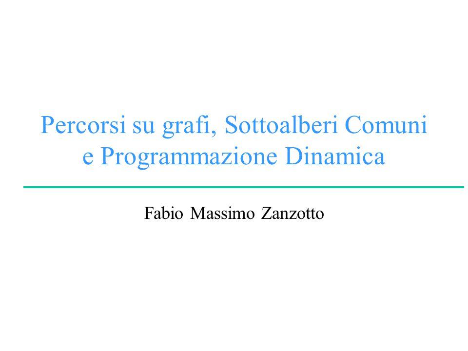 Percorsi su grafi, Sottoalberi Comuni e Programmazione Dinamica Fabio Massimo Zanzotto