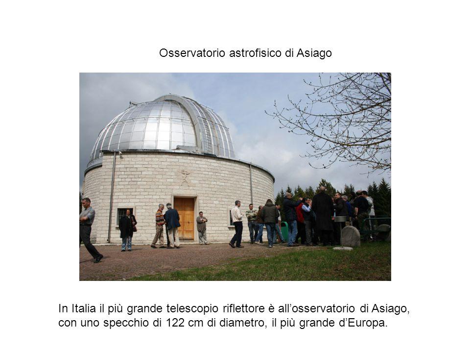 In Italia il più grande telescopio riflettore è all'osservatorio di Asiago, con uno specchio di 122 cm di diametro, il più grande d'Europa.