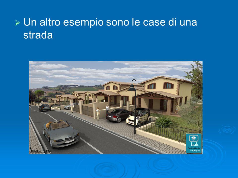   Un altro esempio sono le case di una strada