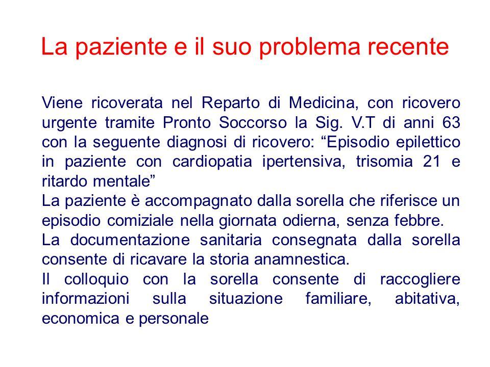 Viene ricoverata nel Reparto di Medicina, con ricovero urgente tramite Pronto Soccorso la Sig.