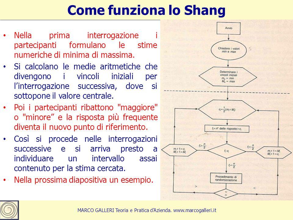 8 Come funziona lo Shang MARCO GALLERI Teoria e Pratica d'Azienda.