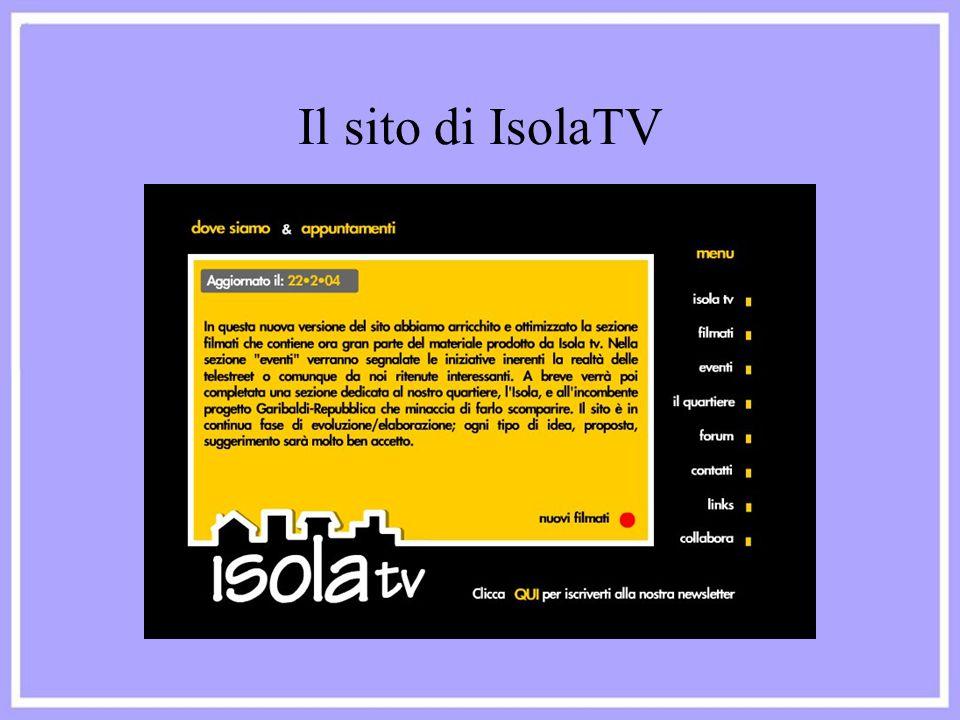 Il sito di IsolaTV