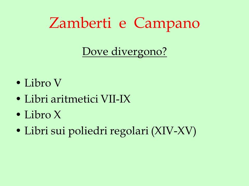 Zamberti e Campano Dove divergono.