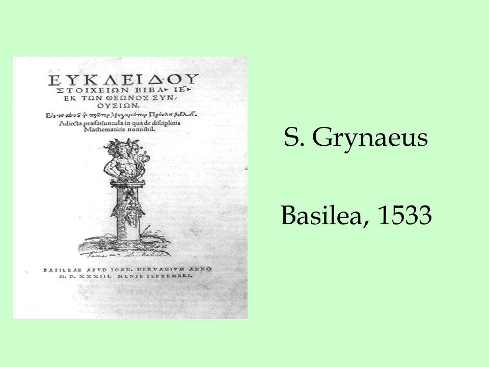 S. Grynaeus Basilea, 1533