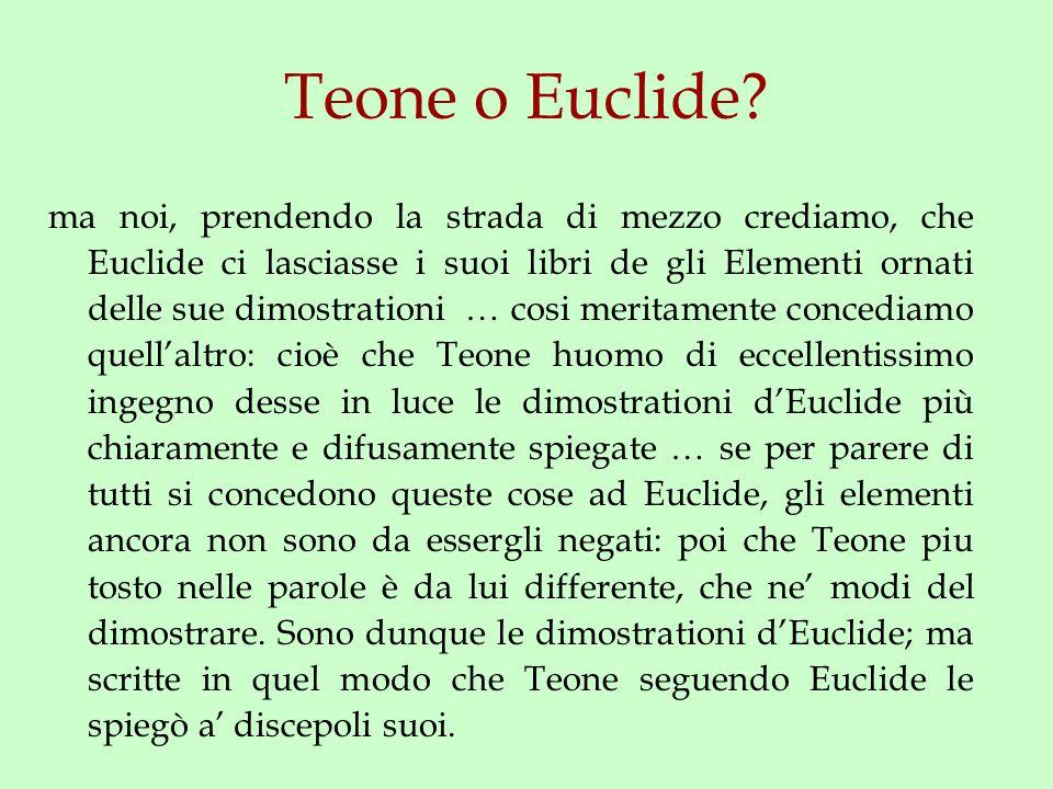 Teone o Euclide.