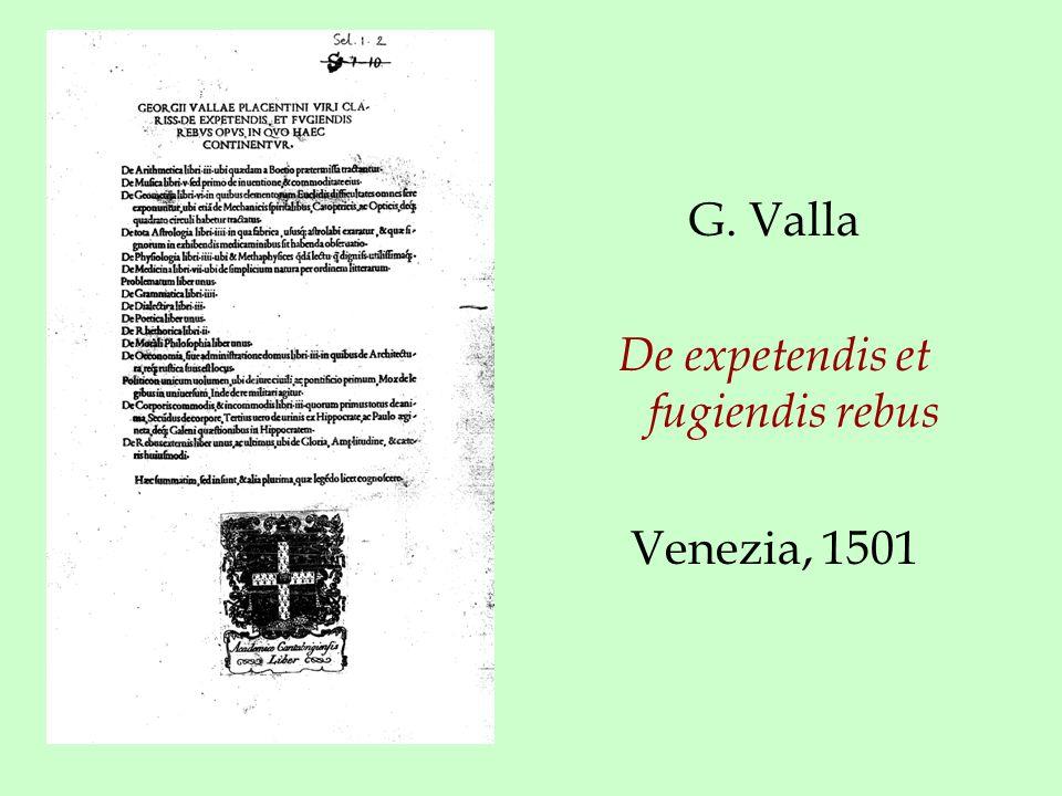 G. Valla De expetendis et fugiendis rebus Venezia, 1501