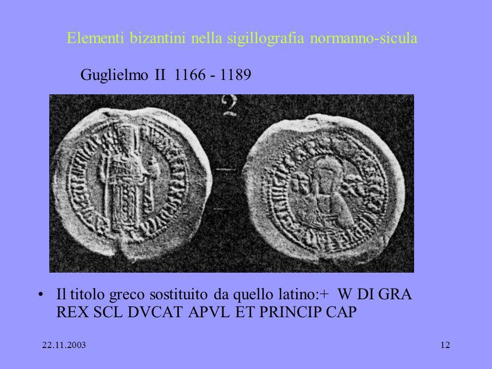 22.11.200311 Elementi bizantini nella sigillografia normanno-sicula Ruggero II, bolla di piombo 1144 recto titolo greco, verso iscrizione latino + gre