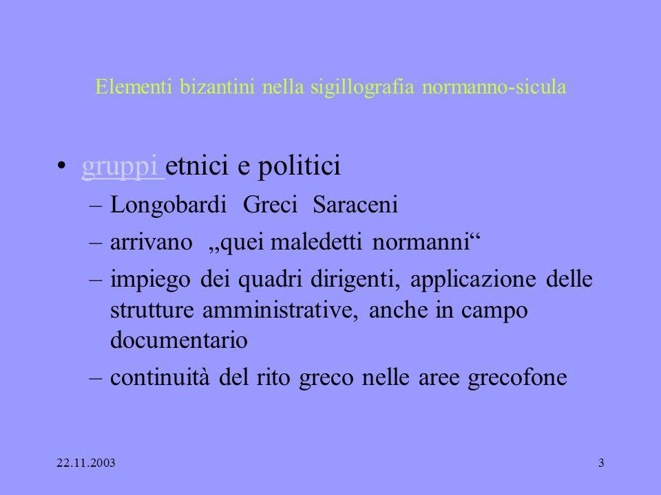 22.11.20032 Elementi bizantini nella sigillografia normanno-sicula Adrano 2003/ Catania