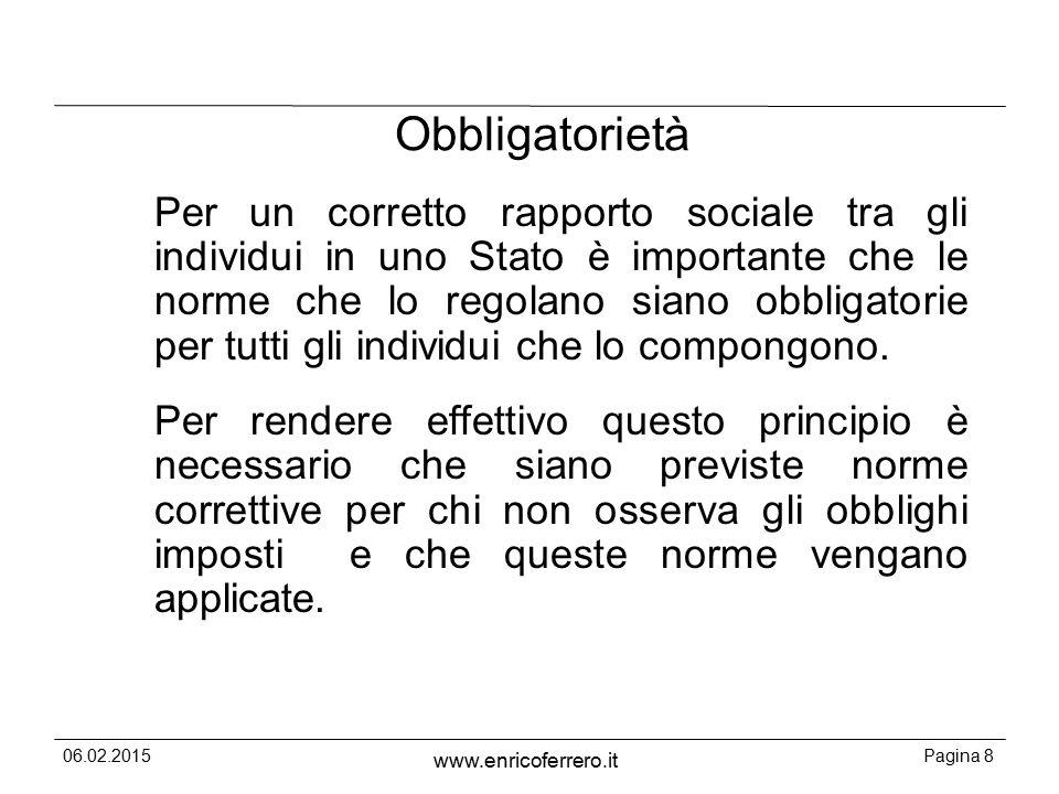 06.02.2015Pagina 89 www.enricoferrero.it Le sanzioni amministrative