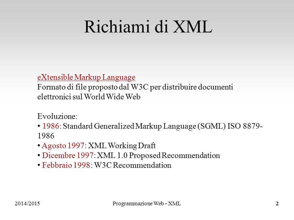 Sistemi Informativi e Servizi <!DOCTYPE elenco [ ]>...