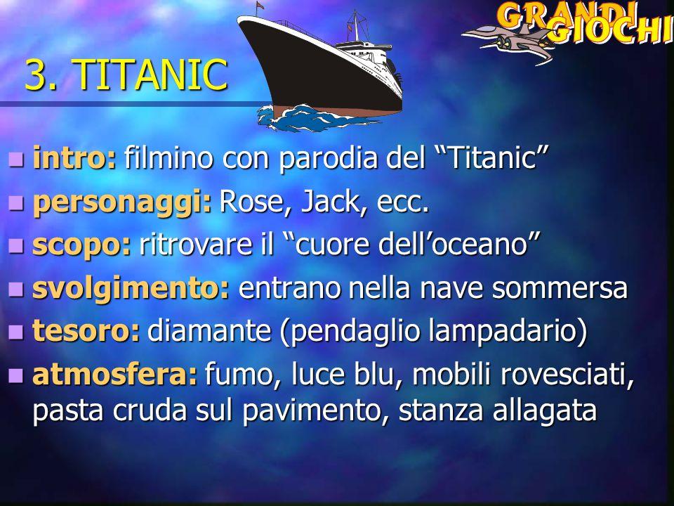 """3. TITANIC intro: filmino con parodia del """"Titanic"""" intro: filmino con parodia del """"Titanic"""" personaggi: Rose, Jack, ecc. personaggi: Rose, Jack, ecc."""