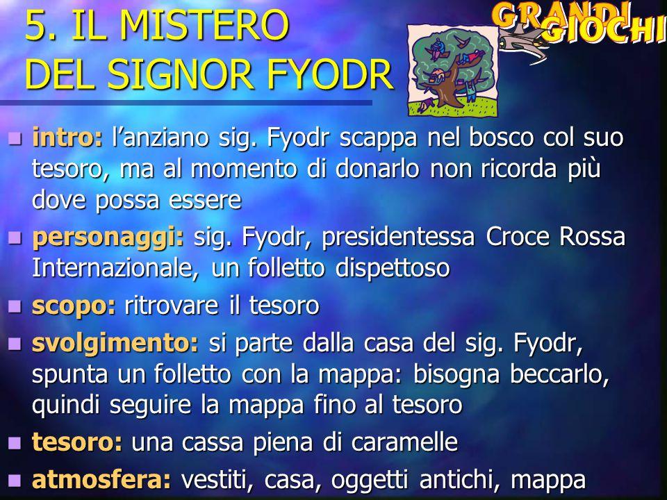 5.IL MISTERO DEL SIGNOR FYODR intro: l'anziano sig.