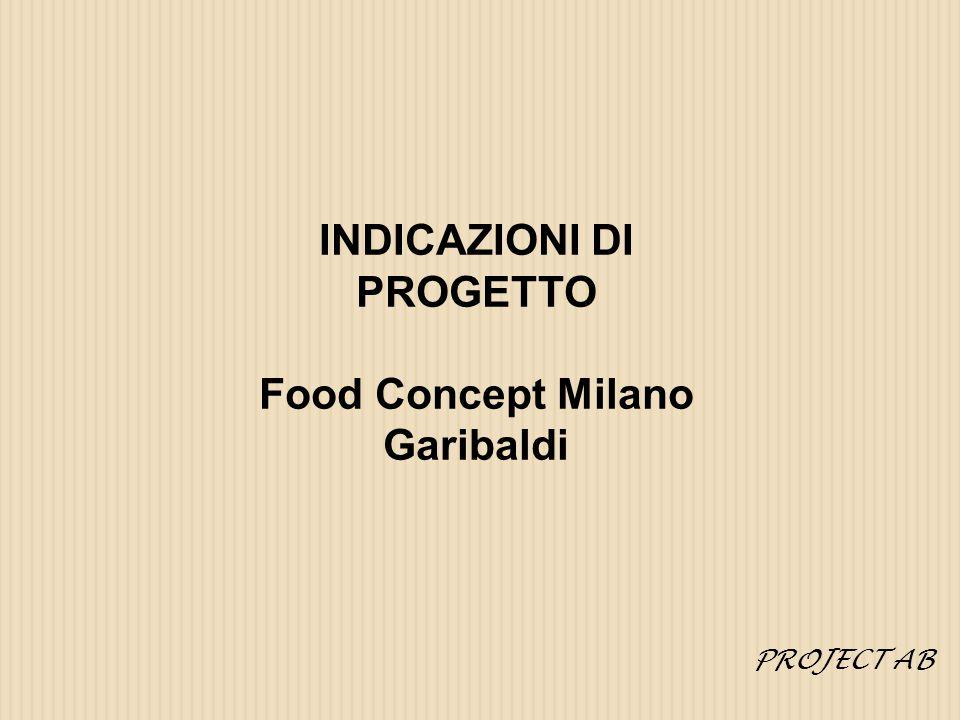 INDICAZIONI DI PROGETTO Food Concept Milano Garibaldi PROJECT AB