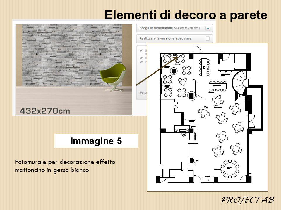 Elementi di decoro a parete Fotomurale per decorazione effetto mattoncino in gesso bianco Immagine 5 PROJECT AB
