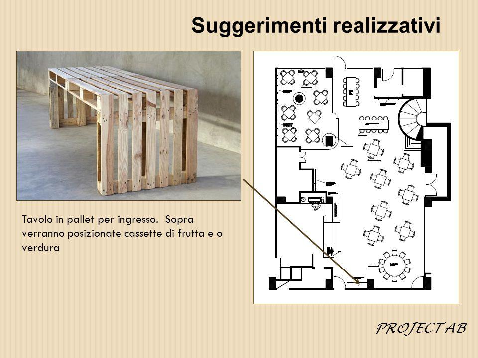 Suggerimenti realizzativi Tavolo in pallet per ingresso.