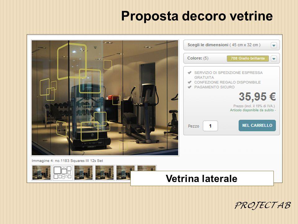 Proposta decoro vetrine Vetrina laterale PROJECT AB