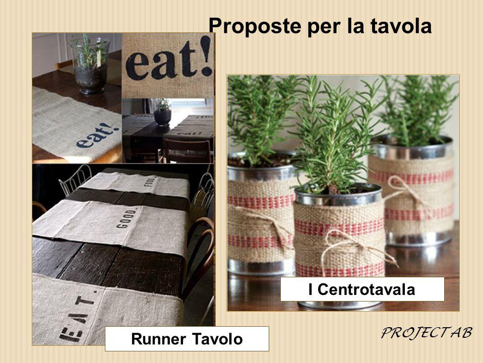 Proposte per la tavola PROJECT AB I Centrotavala Runner Tavolo