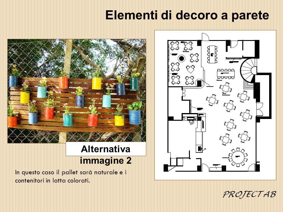 Elementi di decoro a parete pallet bianco o naturale con colore di fondo marrone con TV (immagine 3) Immagine 3 PROJECT AB