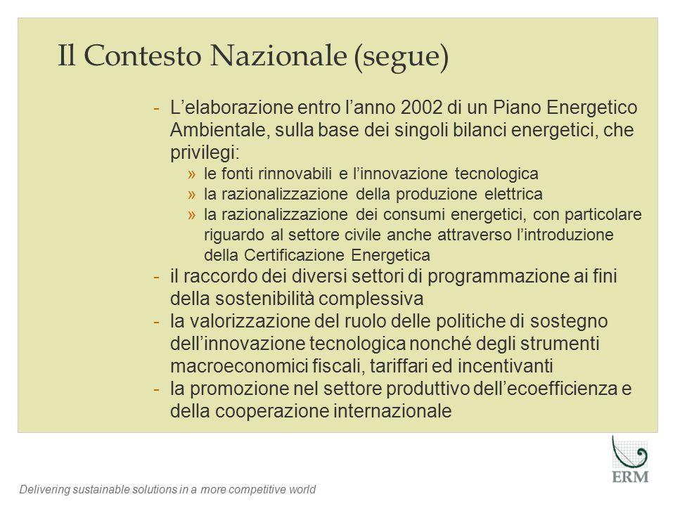 Delivering sustainable solutions in a more competitive world Un Caso Applicativo: Regione Assia Inventario Emissioni fino al 2012