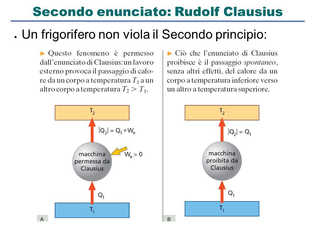 Secondo enunciato: Rudolf Clausius  Un frigorifero non viola il Secondo principio: