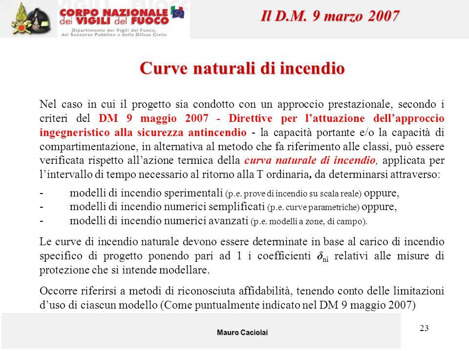 23 Nel caso in cui il progetto sia condotto con un approccio prestazionale, secondo i criteri del DM 9 maggio 2007 - Direttive per l'attuazione dell'a