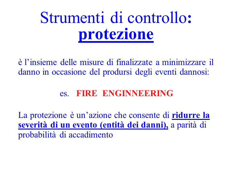 Strumenti di controllo: prevenzione è l'insieme delle misure di finalizzate ad impedire l'accadimento di eventi dannosi: es. procedure organizzative e