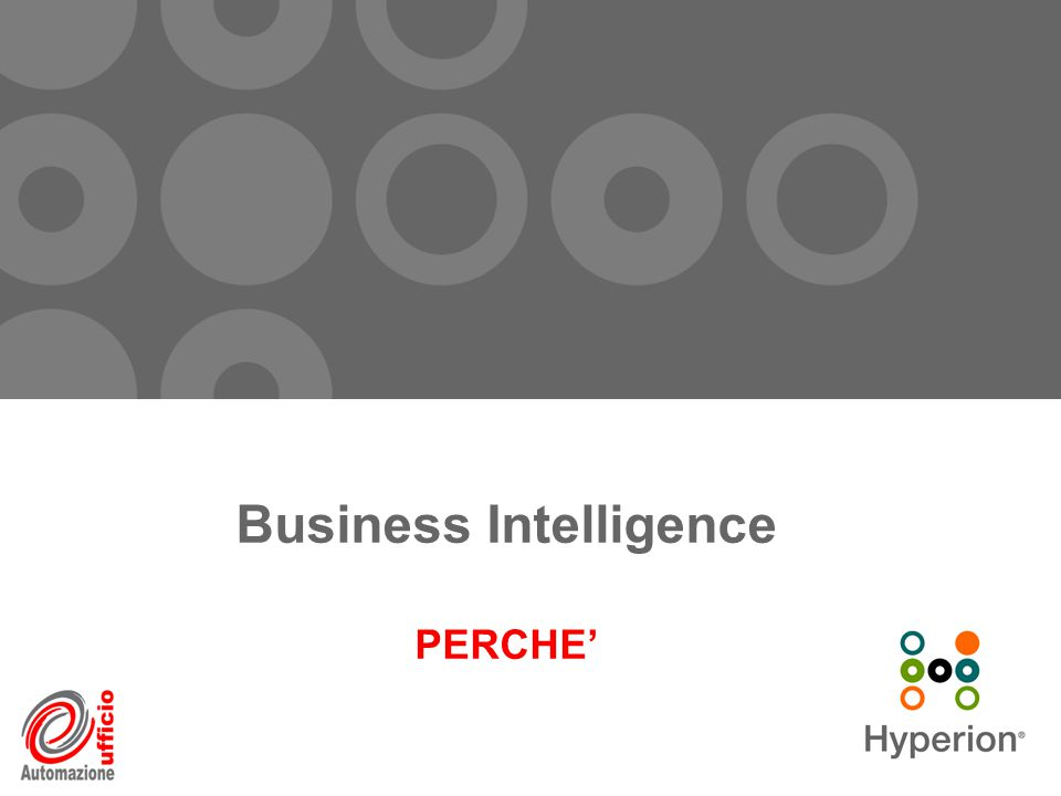 Business Intelligence PERCHE'