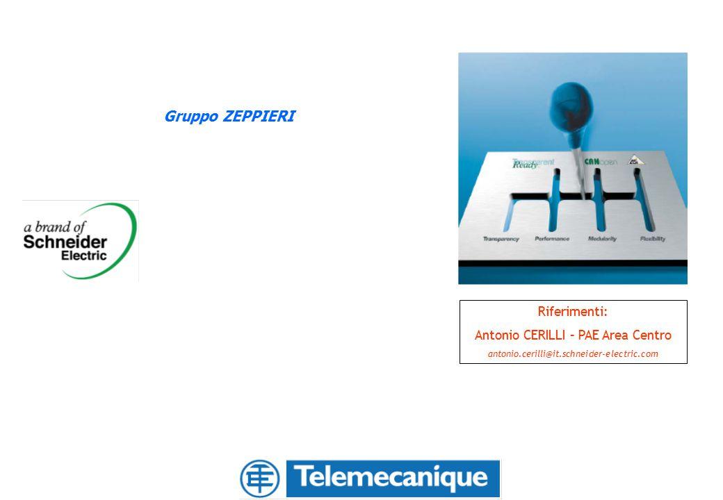 Gruppo ZEPPIERI Riferimenti: Antonio CERILLI – PAE Area Centro antonio.cerilli@it.schneider-electric.com